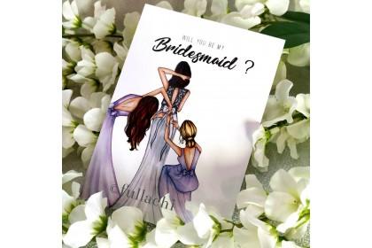 Bridesmaid Card - Friends in Violet