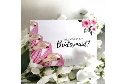 Bridesmaid Card - Four Hands