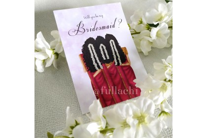 BRIDESMAID CARD - PURPLE SAREE