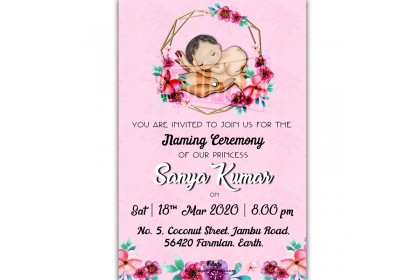 BABY NAMING CEREMONY E-CARD: TEMPLATE 49